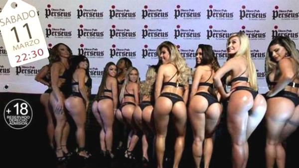 Cartel promocional del concurso de culos de mujer de la discoteca Perseus, en Vitoria.