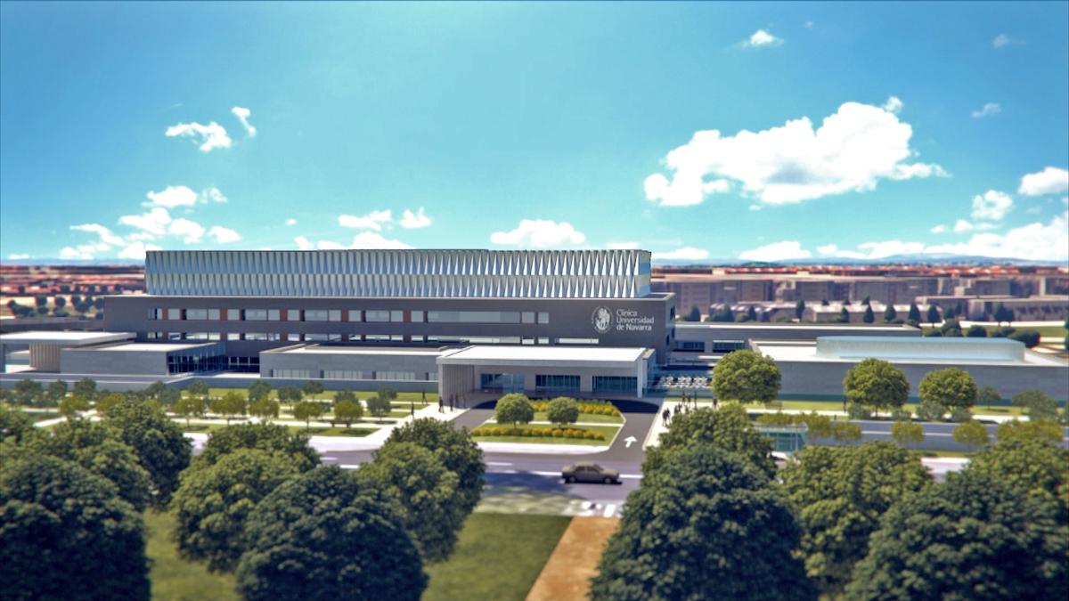 Modelo del nuevo centro de la Clínica Universitaria de Navarra.