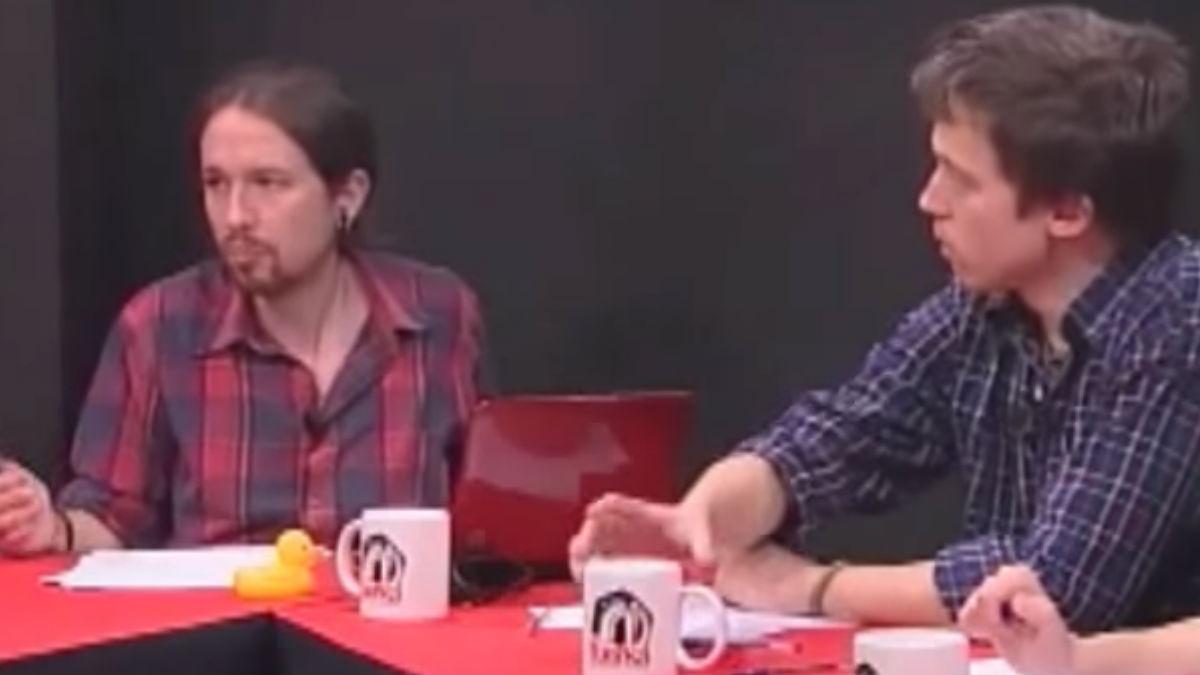 Iglesias y Errejón, en el programa de La Tuerka.