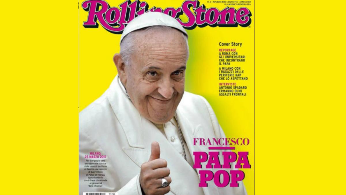 La portada de 'Rolling Stone' Italia, protagonizada por el Francisco, el 'Papa pop'.