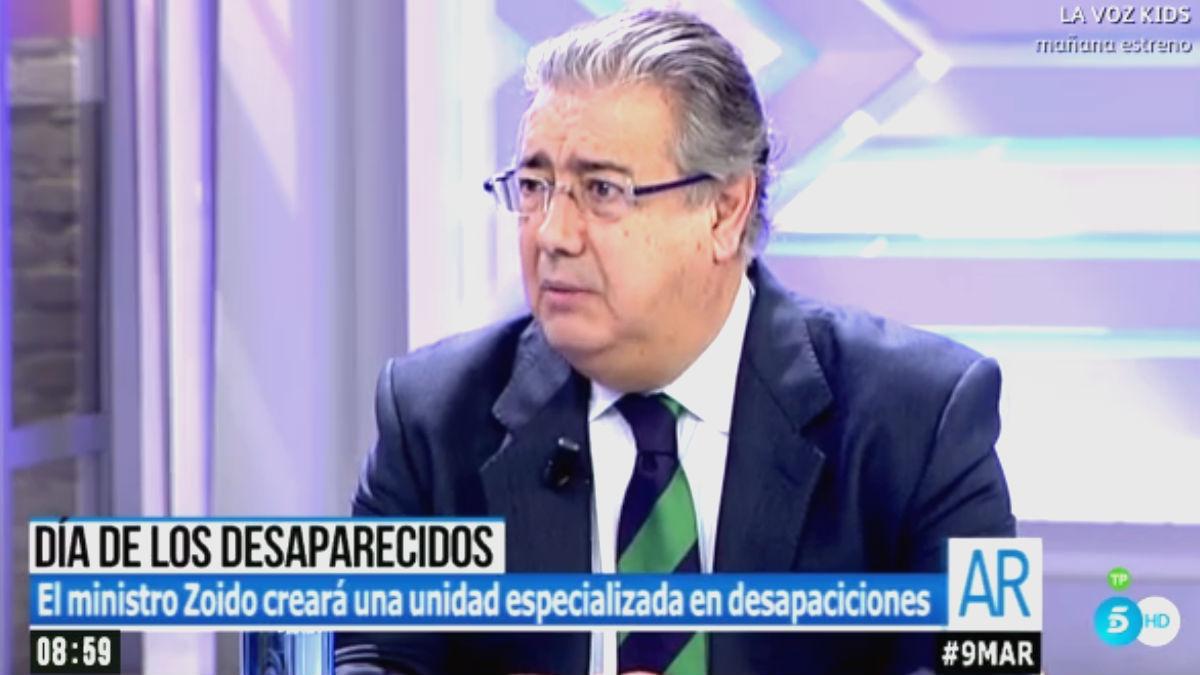 El ministro del Interior, Juan Ignacio Zoido, en 'El programa de Ana Rosa' (Foto: Telecinco)