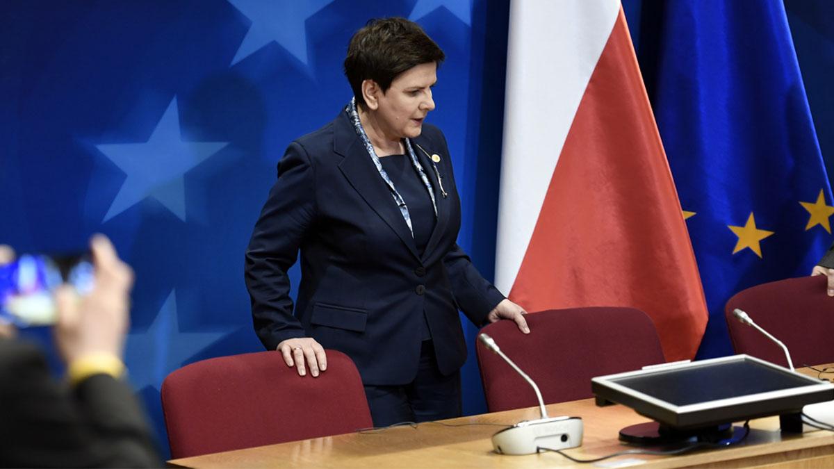Beata Szydlo, primera ministra de Polonia (Foto: AFP)