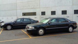 Los dos coches oficiales que usaba Rita Barberá y que el Ayuntamiento de Valencia saca a subasta. Foto: Ayunt. de Valencia