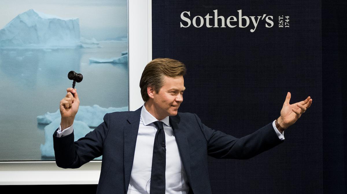 Subasta de arte en Sotheby's London (Fuente: Getty images)