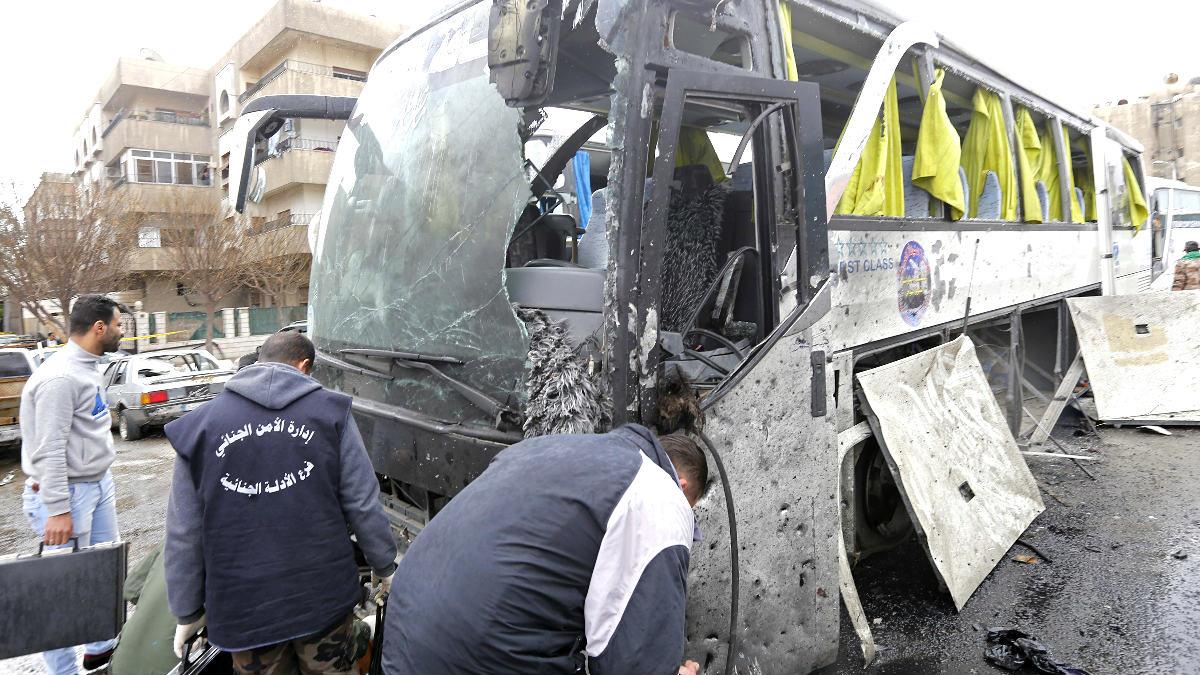 Imagen del lugar del atentado (Foto: AFP).