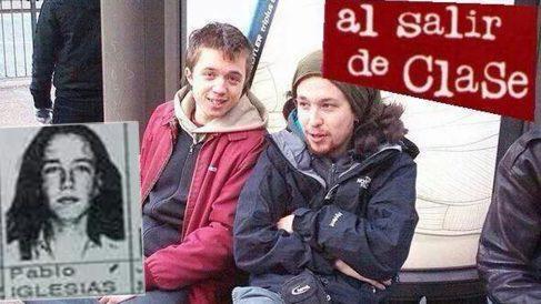Así comenzó la amistad entre Pablo Iglesias e Íñigo Errejón. A la izquierda, la foto de Iglesias cuando estudiaba COU.