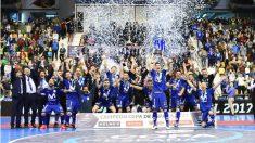 Movistar Inter se impuso en los penaltis a ElPozo. (EFE)