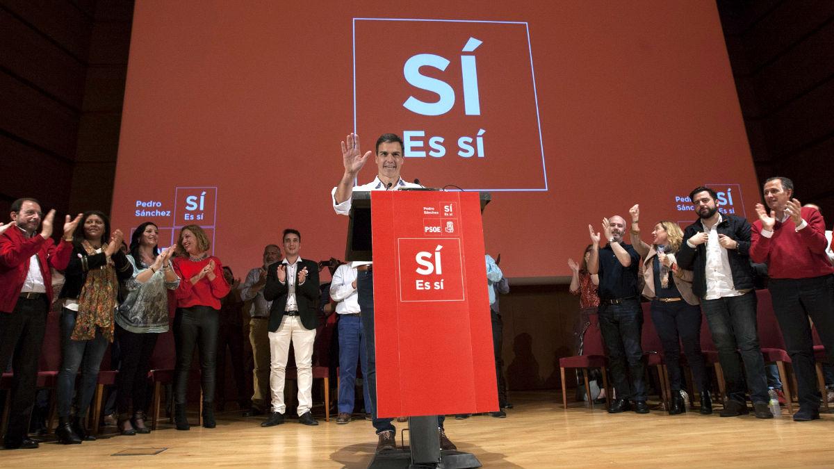 Pedro Sánchez en un reciente acto (Foto: Efe).