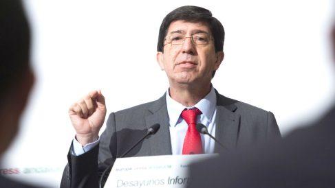 El Presidente del Grupo Parlamentario de Ciudadanos y Portavoz en Andalucía, Juan Marín (Foto: Efe)