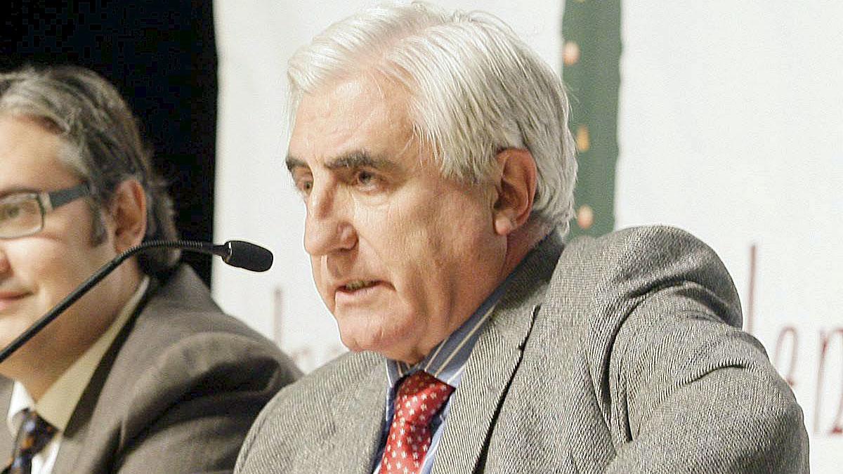 El director de 'El Plura', Enric Sopena, durante una conferencia. (Foto: EFE)