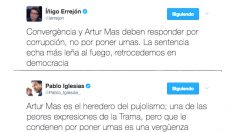 Pablo Iglesias e Íñigo Errejón opinan en Twitter sobre la sentencia a Artur Mas (Foto: Twitter)