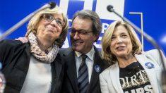 Irene Rigau, Artur Mas y Joana Ortega (Foto: EFE).