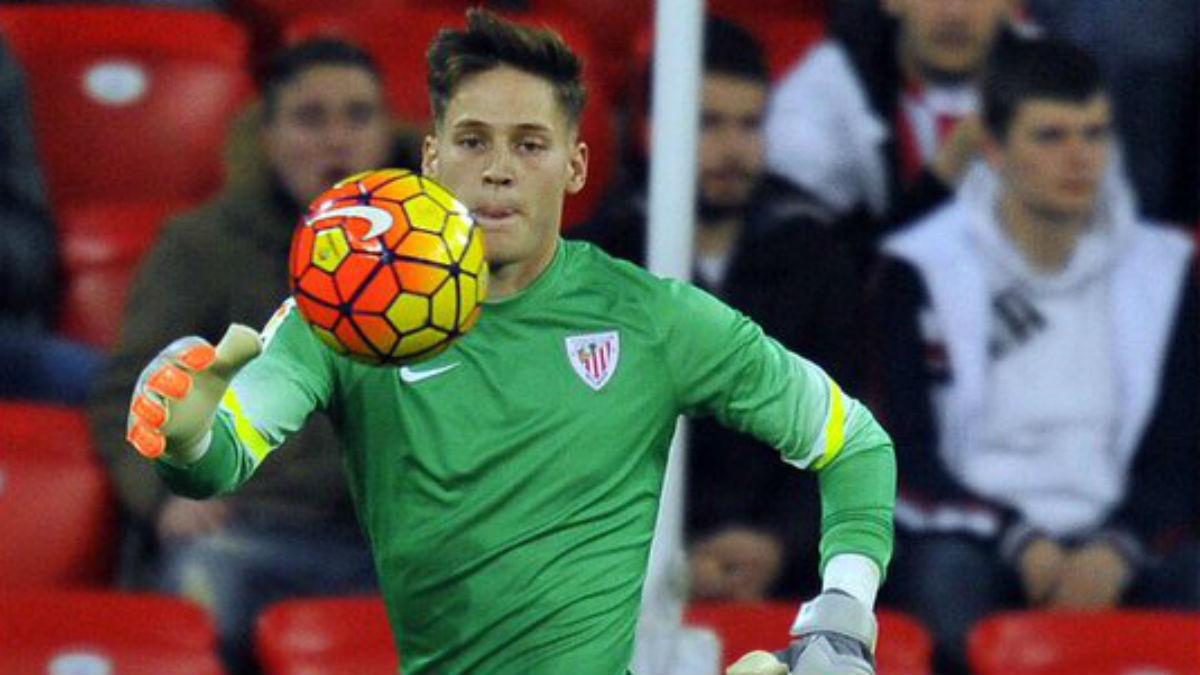 Álex Remiro, en un partido con el Athletic. (Instagram)