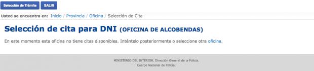 Las comisar as colapsan imposible solicitar cita para for Oficinas para renovar dni en madrid