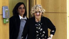 Manuela Carmena y Celia Mayer. (Foto: EFE)