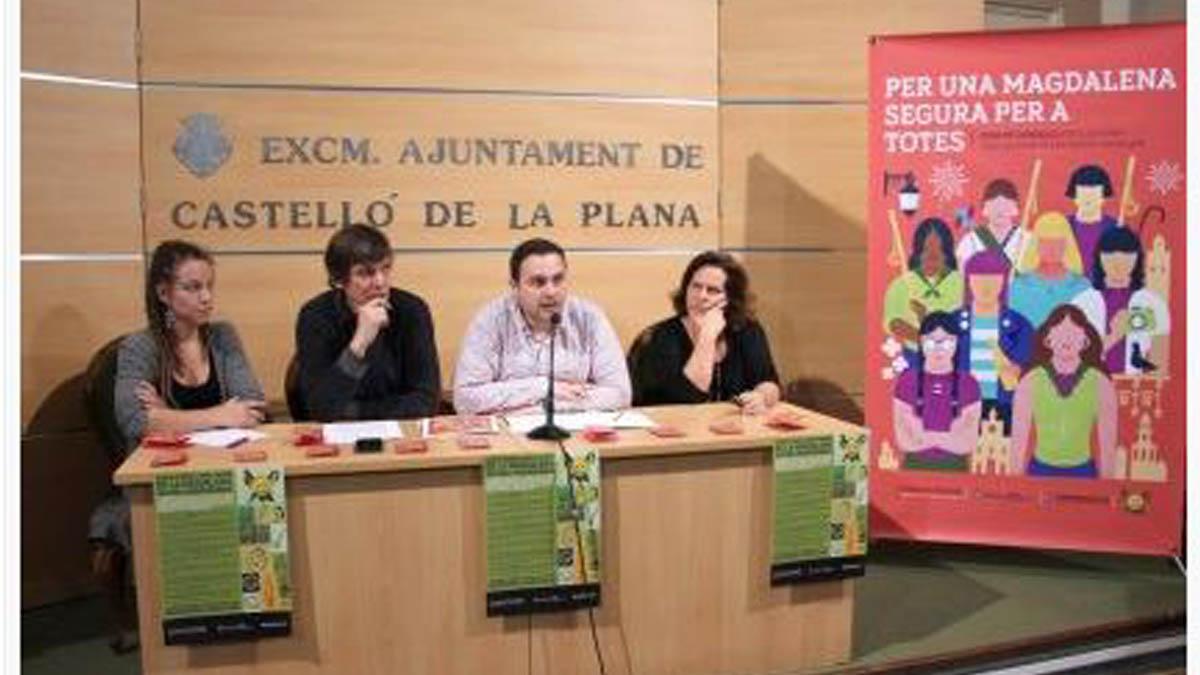 Presentación del panfleto que anima a consumir drogas en Castellón (Foto: Diari Millars)