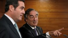 Los presidentes de la patronal CEOE y Cepyme, Juan Rosell y Antonio Garamendi. (Foto: EFE)