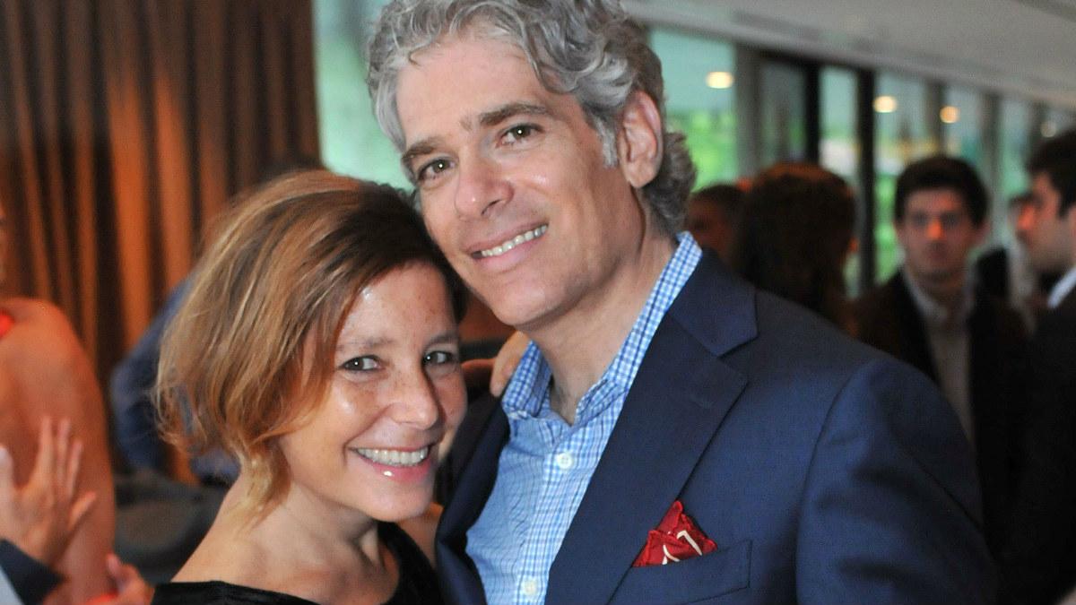 Amy krouse Rosenthal junto a su marido.