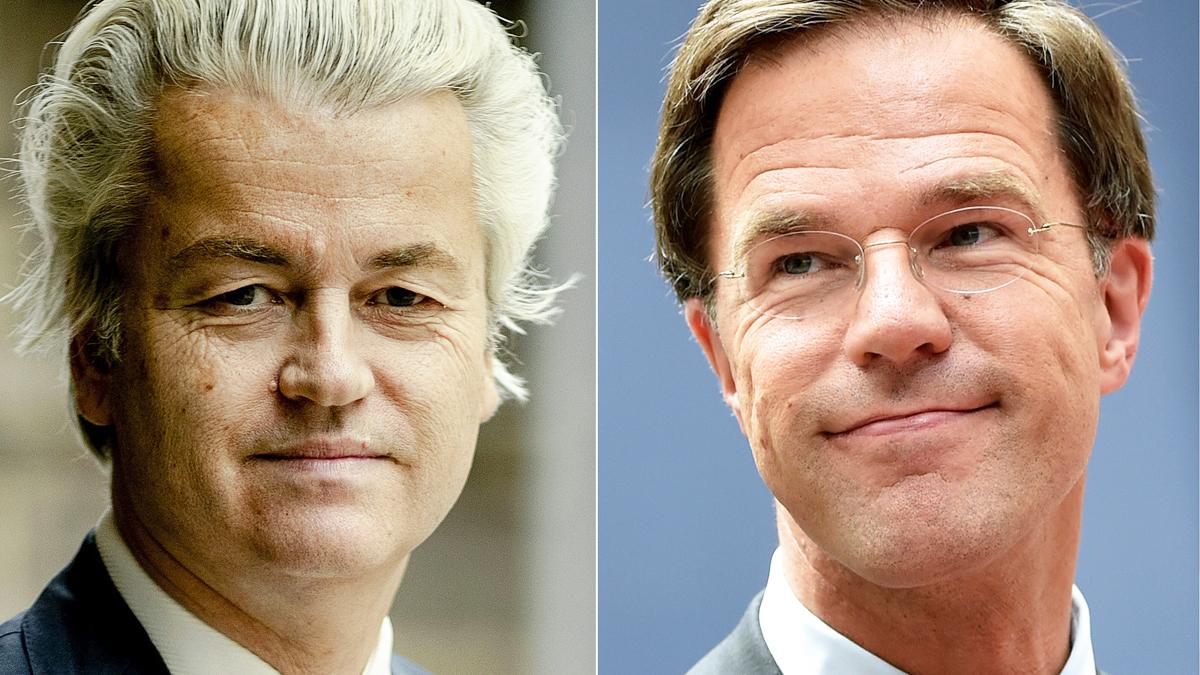 Geert Wilders y Mark Rutte. (Foto: AFP)