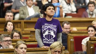 La diputada autonómica de la CUP Anna Gabriel. (Foto: AFP)