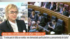 La cofundadora de UPyD, Rosa Díez, en 'Espejo Público' (Foto: Antena 3)