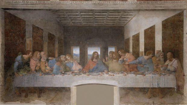 """""""La Última Cena"""" de Leonardo da Vinci."""