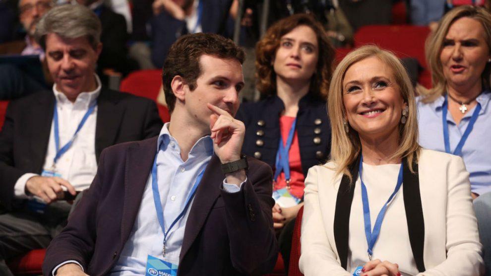 Pablo Casado y Cristina Cifuentes (Foto: A: Cuéllar / PP Madrid)