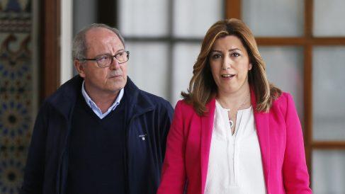 Juan Cornejo y Susana Díaz. (Foto: EFE)
