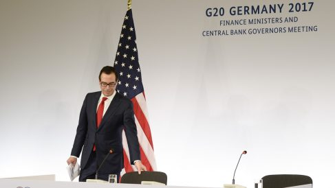 Steven Mnuchin, secretario del Tesoro de EEUU (Foto: AFP)