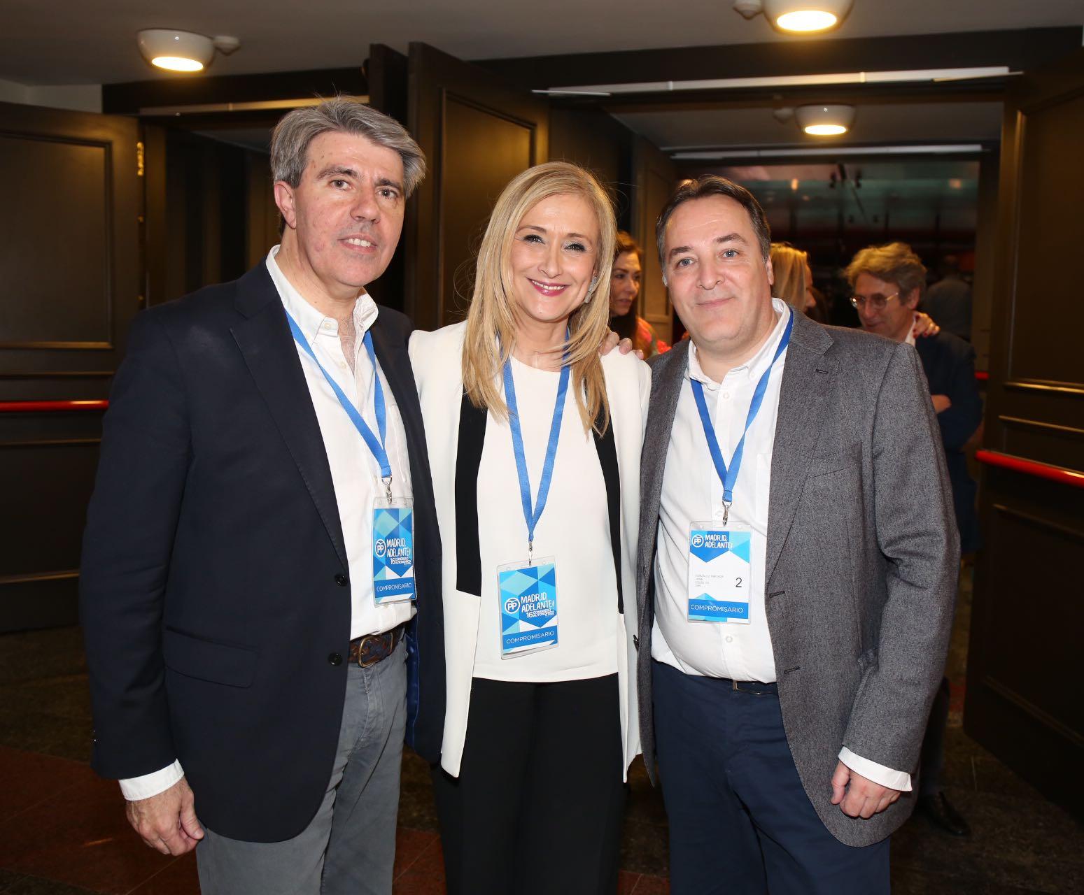 Jaime González Taboada, Cristina Cifuentes y Ángel Garrido (Alberto Cuéllar PP Madrid).