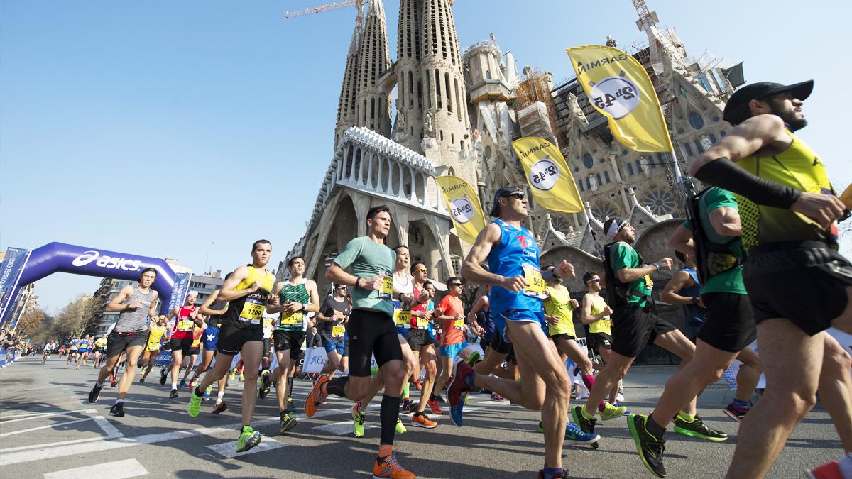 Maratón de Barcelona. (Foto: AFP)