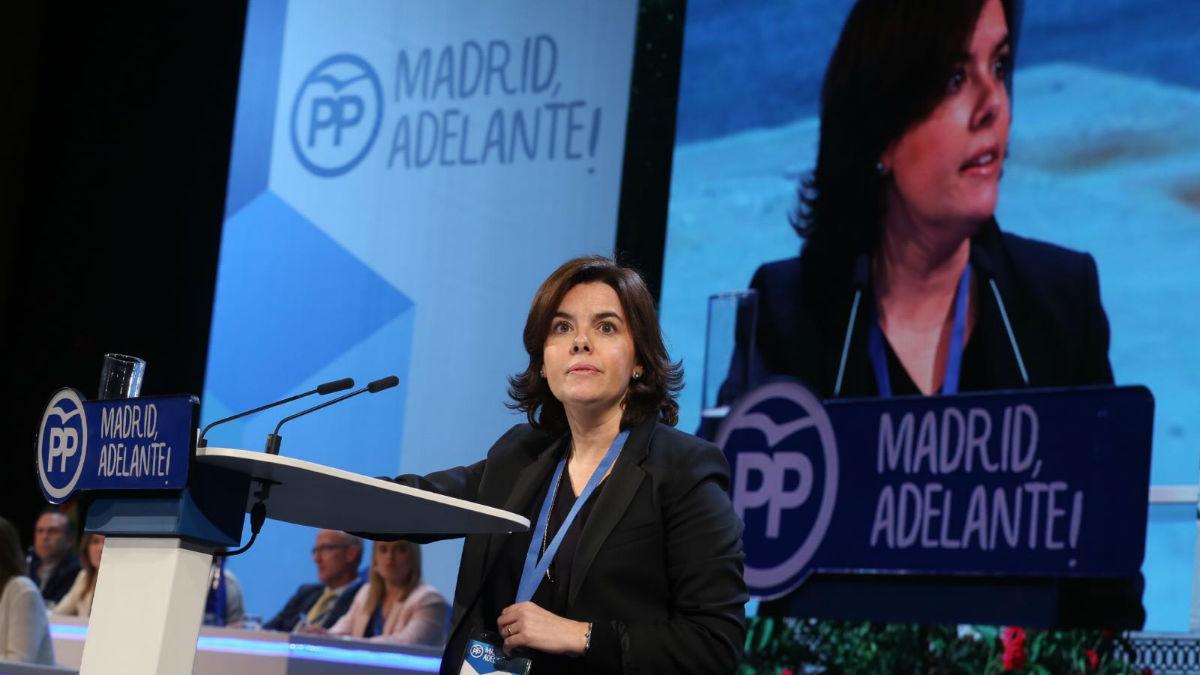 Soraya Sáenz de Santamaría en el congreso del PP de Madrid (Alberto Cuéllar PP Madrid)