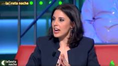 La nueva portavoz de Podemos, Irene Montero, en La Sexta Noche.