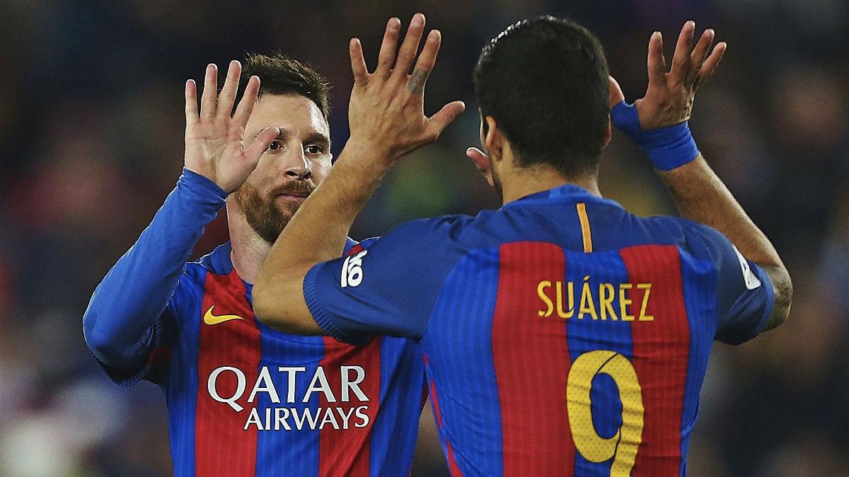 Messi y Luis Suárez. (Foto: EFE)