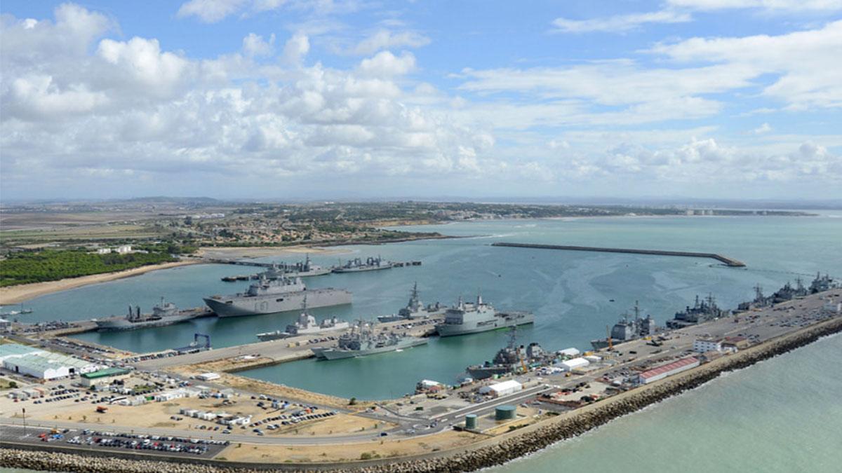 Vista aérea de la base naval de Rota. (Foto: Defensa)