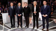 Los cinco candidatos a las elecciones presidenciales en Francia (Foto: AFP)