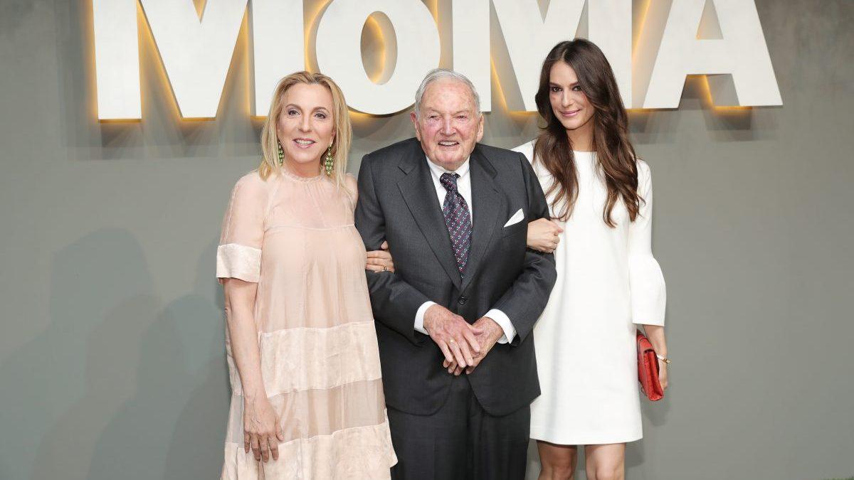 David Rockefeller en un acto del MoMA de Nueva York. (Foto. Getty)