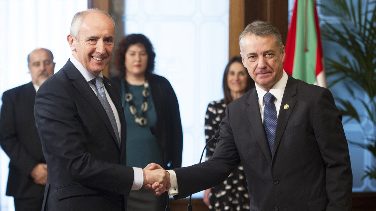 Josu Erkoreka e Iñigo Urkullu. (Foto: AFP)