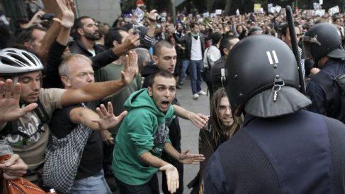 Imagen de archivo de la protesta del 25S en los alrededores del Congreso de los Diputados