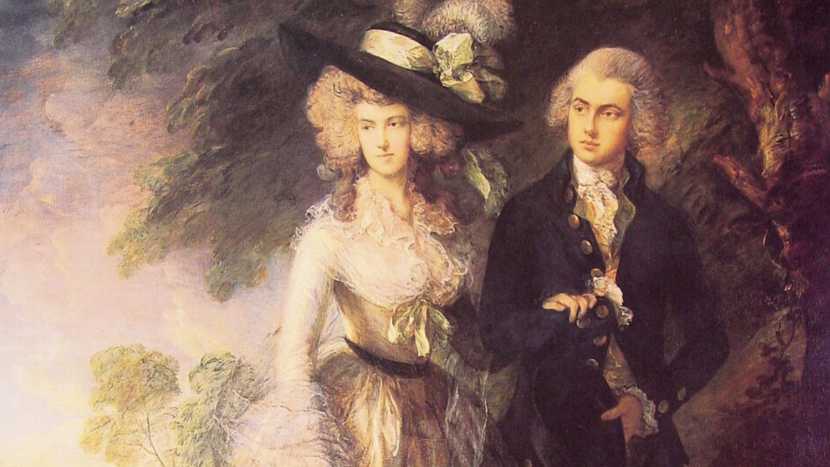 'The morning walk' (Thomas Gainsborough, 1785)