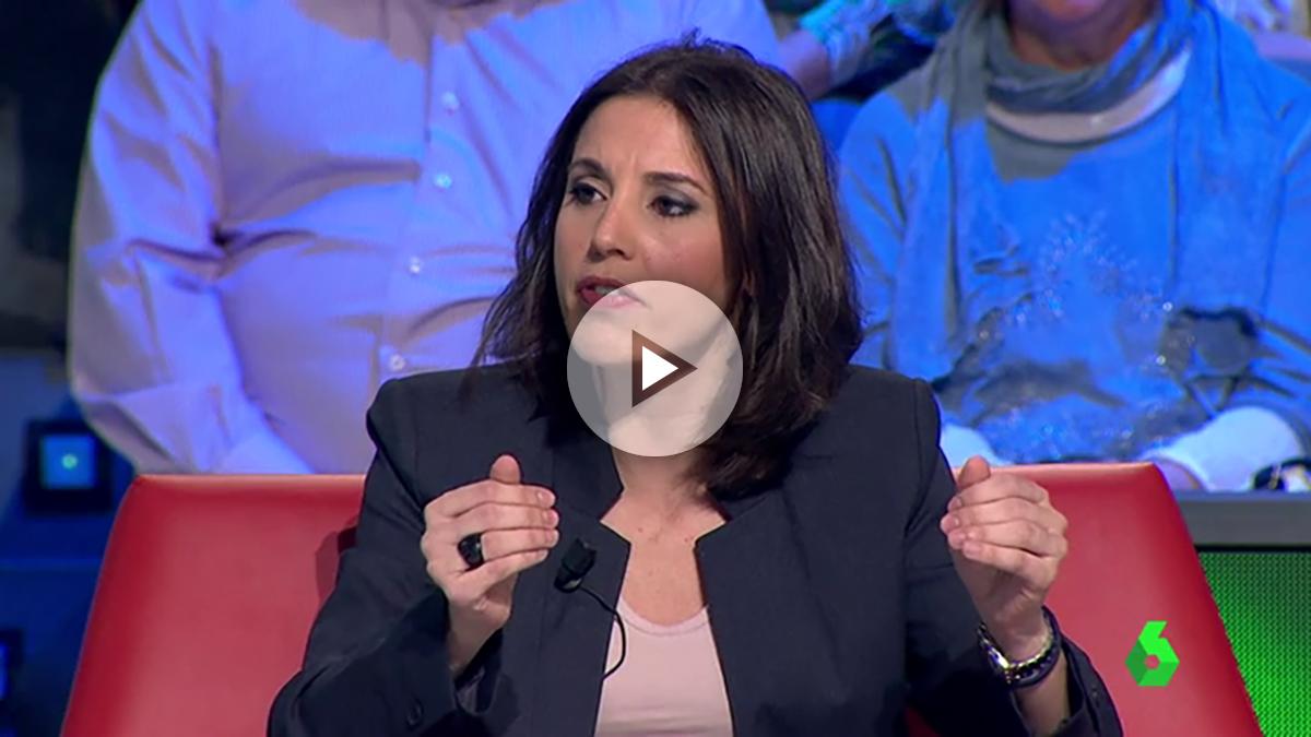Irene Montero, portavoz de Podemos en el Congreso, en una entrevista este sábado.