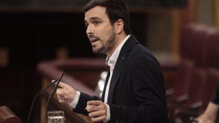 Alberto Garzón en el Congreso.