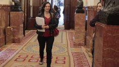 Carolina Bescansa llegando al Congreso de los Diputados (Foto: Francisco Toledo)