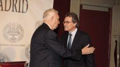 Mas y García-Margallo, este martes, en el Ateneo de Madrid.