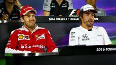Niki Lauda descarta la llegada de Sebastian Vettel a Mercedes en 2018, pero no así la de Fernando Alonso. ¿Culebrón a la vista? (Getty)