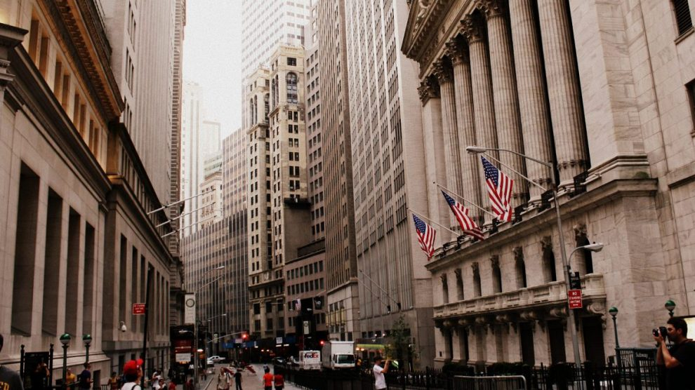 La Bolsa de Nueva York, en Wall Steet.