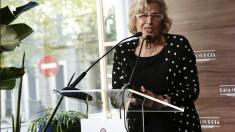 Manuela Carmena inaugurando el Hotel Suecia en el centro de Madrid. (Foto: Madrid)