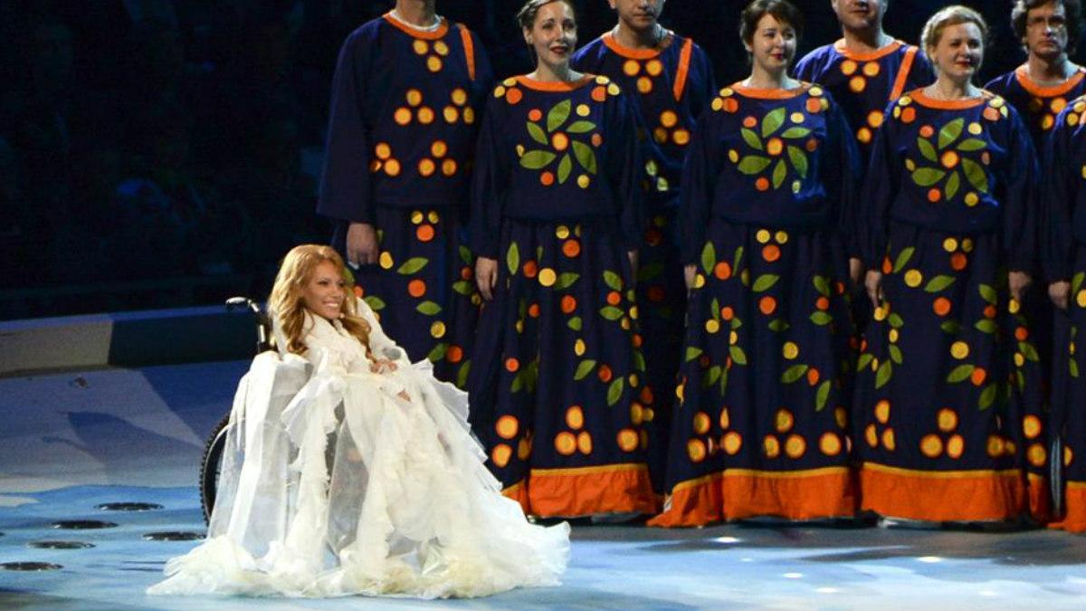 Julia Samóilova, la concursante rusa en Eurovisión.