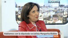 Margarita Robles en 'Espejo Público'.