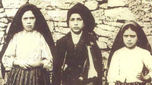 Los tres pastorcitos de Fátima.